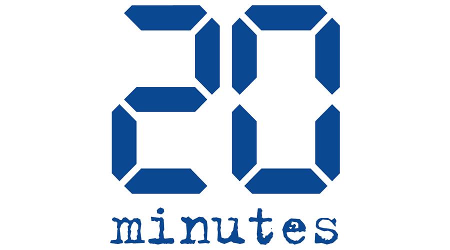 20 Minutes Logo Vector