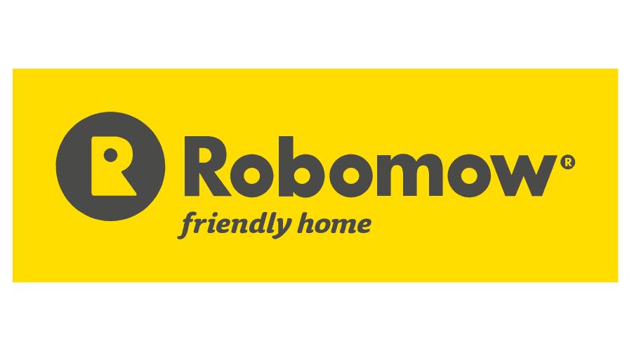 Robomow Friendly House Logo Vector