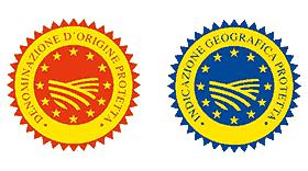 DOP (Denominazione D'Origine Protettiva) and IGP (Indicazione Geografica Protetta) Logo Vector's thumbnail