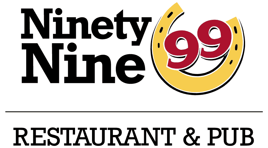 99 Restaurant and Pub Logo Vector