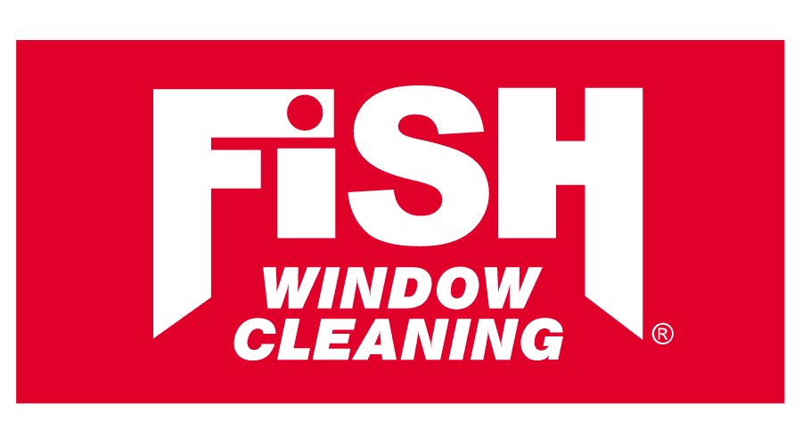 Fish Window Cleaning Logo Vector
